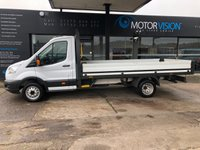 USED 2015 15 FORD TRANSIT 2.2 350 DROPSIDE C/C DRW 1d 124 BHP Excellent Condition, Full S/history, Bluetooth