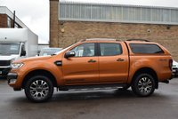 USED 2018 18 FORD RANGER 3.2 WILDTRAK 4X4 DCB TDCI 1d AUTO 197 BHP A stunning Orange metallic March 2018 Ford Ranger 3.2tdci 200 WILDTRAK 4x4 with a TOP BOX.