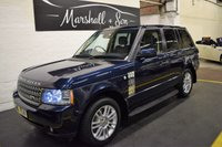 USED 2010 60 LAND ROVER RANGE ROVER 3.6 TDV8 VOGUE 5d AUTO 271 BHP 7 SERVICE STAMPS TO 76K - LEATHER - NAV -TV - TOWBAR