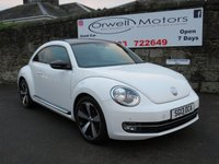 USED 2013 13 VOLKSWAGEN BEETLE 2.0 SPORT TDI 3d 139 BHP ELECTRIC SLIDING PANORAMIC ROOF+CRUISE CONTROL