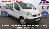 2012 RENAULT TRAFIC 2.0 DCI 115 BHP Long Wheelbase MPV, 9 SEATER MINIBUS, ++NO VAT++ 9 Seats, Long Wheel Base, Low Mileage, Sat Nav, Bluetooth £9980.00