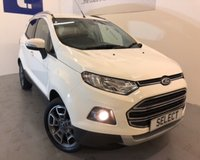 USED 2016 65 FORD ECOSPORT TITANIUM TDCI WAS £9499 TODAY £8999 SAVING £500 in our end of Month mega JAN SALE !!!! Fab model in Alpine white with Titanium trim-1/2 leather, alloys, blue tooth, cruise control,\