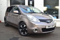2013 NISSAN NOTE 1.4 N-TEC PLUS 5d 88 BHP £5350.00