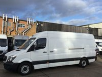 USED 2014 64 MERCEDES-BENZ SPRINTER 2.1 313CDI LWB HIGH ROOF 130BHP LOW 33K MILES. 1 OWNER. LOW 33,742 MILES. 1 OWNER. LOW FINANCE RATE. PX