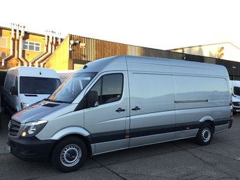 2014 MERCEDES-BENZ SPRINTER 2.1 313CDI LWB HIGH ROOF 130BHP. REV CAMERA. SILVER. FMBSH £11990.00