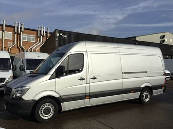 2016 MERCEDES-BENZ SPRINTER 2.1 313CDI LWB HIGH ROOF 130BHP SILVER. PARK ASSIST. WARRANTY £13890.00