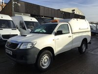 USED 2016 65 TOYOTA HI-LUX 2.5 D-4D ACTIVE 4X4 D-4D 144BHP SINGLE CAB. FSH. 1 OWNER. EXPORT. FULL SERVICE HISTORY. SINGLE CAB PICK UP. FINANCE. PX