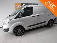 USED 2014 64 FORD TRANSIT CUSTOM 2.2 270 LIMITED LR P/V 1d 124 BHP NO VAT, GREAT 6 SEATER CREW VAN WITH ONE OWNER AND FULL DEALER HISTORY FINISHED IN BRIGHT SILVER,  WITH IMMACULATE BODY WORK AND UNMARKED INTERIOR,  ELEC WINDOWS, REMOTE CENTRAL LOCKING, RADIO CD USB POINT,  FRONT AND REAR PARKING SENSORS, CARGO LINED, BULK HEAD, BLUETOOTH PHONE PREP JUST SERVICED READY FOR WORK.