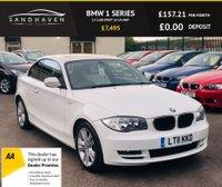 USED 2011 11 BMW 1 SERIES 2.0 118D SPORT 2d 141 BHP FULL CREAM SPORTS LEATHER