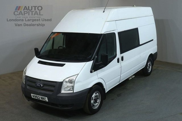 2012 62 FORD TRANSIT 2.2 350 124 BHP LWB H/ROOF 9 SEATER COMBI CREW FWD VAN NO VAT TWO OWNER SPARE KEY NO VAT