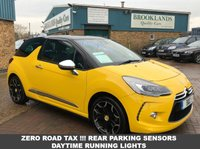 USED 2014 64 CITROEN DS3 1.6 BLUEHDI DSPORT PLUS 3 DOOR SPORT YELLOW 120 BHP FREE ROAD TAX !!!  STUNNING DS3 FULL LEATHER AIR CON BLUETOOTH ALLOYS PRIVACY GLASS 78.5 MPG £0 RFL