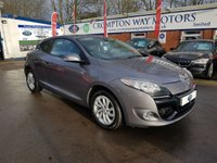 USED 2012 12 RENAULT MEGANE 1.6 DYNAMIQUE TOMTOM VVT 3d 110 BHP 0%  FINANCE AVAILABLE ON THIS CAR PLEASE CALL 01204 317705