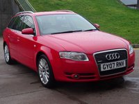 USED 2007 07 AUDI A4 2.0 TDI SE TDV 5d 140 BHP FULL SERVICE RECORD (12 STAMPS) *  TIMING BELT AND WATER PUMP CHANGED *  MOT 29 NOVEMBER 2019 *  PARKING AID *