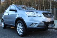 USED 2012 61 SSANGYONG KORANDO 2.0 EX 5d 175 BHP VERY LOW MILES, ONLY ONE OWNER FROM NEW AND FULL BLACK LEATHER!!!