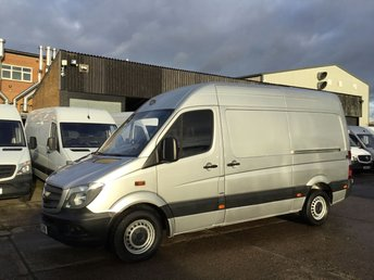 2015 MERCEDES-BENZ SPRINTER 2.1 313CDI MWB HIGH ROOF 130BHP SILVER. BLUE EFFICIENCY £11450.00