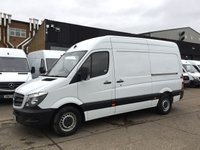 USED 2015 15 MERCEDES-BENZ SPRINTER 2.1 313CDI MWB HIGH ROOF 130BHP. 1 OWNER. FULL HISTORY. 1 OWNER. FULL HISTORY. LOW FINANCE RATE. PX WELCOME
