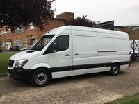 USED 2015 MERCEDES-BENZ SPRINTER 2.1 313CDI LWB HIGH ROOF 130BHP. 1 OWNER. FULL HISTORY 1 OWNER. FULL SERVICE. CHEAPEST 2015 LWB IN UK. PX