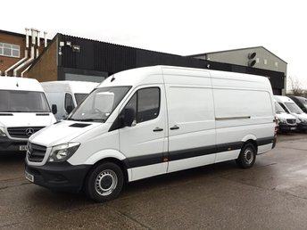2016 MERCEDES-BENZ SPRINTER 2.1 313CDI LWB HIGH ROOF 130BHP. 1 OWNER. PARK ASSIST. WARRANTY £13750.00