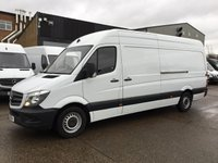 USED 2016 16 MERCEDES-BENZ SPRINTER 2.1 313CDI LWB HIGH ROOF 130BHP. REAR SENSORS. MERC WARRANTY. MERCEDES WARRANTY. SENSORS. LOW FINANCE. PX WELCOME