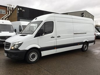 2016 MERCEDES-BENZ SPRINTER 2.1 313CDI LWB HIGH ROOF 130BHP. REAR SENSORS. MERC WARRANTY. £12990.00