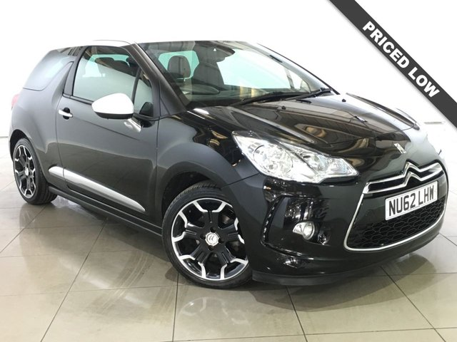 View our 2012 62 CITROEN DS3 1.6 DSTYLE PLUS 3d 120 BHP