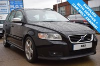 USED 2008 08 VOLVO V50 2.0 D R DESIGN 5 DOOR 135 BHP SUPPLIED WITH SERVICE AND CAM BELT! FULL SERVICE HISTORY!