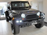 "USED 2008 08 JEEP WRANGLER JK 3.8L V6 Petrol Automatic, 4x4, Lifted and Wide-tracked. VAT Qualifying. ULEZ Exempt. Here we have a lifted Wrangler JK first registered in Japan in 2008 and freshly imported, tested, inspected to RAC BuySure criteria and serviced. It's been lifted by 2.5"" and Rugged Ridge wheels with 35"" oversized tyres creating a wider stance and great off-road capability. Bushwacker flared wheel arches with extensions complete the aggressive look combined with upgraded grille, LED headlights with halo daytime running lights, LED rear lights, additional LED spotlights and winch-style bumper."