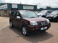 USED 2007 07 NISSAN X-TRAIL 2.2 SVE DCI 5 Door Pearlescent Merlot Red 135 BHP A Great 4x4 Family Towcar With Leather Seats Panoramic Sunroof