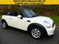 USED 2013 63 MINI CONVERTIBLE 1.6 COOPER D 2d 112 BHP All retail cars sold are fully prepared and include - Oil & filter service, 6 months warranty, minimum 6 months Mot, 12 months AA breakdown cover, HPI vehicle check assuring you that your new vehicle will have no registered accident claims reported, or any outstanding finance, Government VOSA Mot mileage check.     Because we are an AA approved dealer, all our vehicles come with free AA breakdown cover and a free AA history check. Low rate finance available. Up to 3 years warranty available.