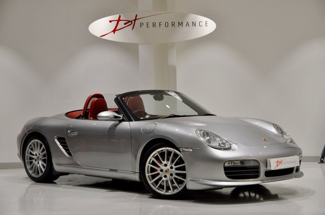 2008 08 PORSCHE BOXSTER 3.4 RS60 SPYDER 2d 303 BHP HUGE SPEC + RED INTERIOR