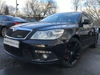 USED 2012 62 SKODA OCTAVIA 2.0 BLACKLINE VRS TDI CR DSG 5d 168BHP HISTORY+LEATHER+ALLOYS+CRUISE+