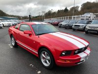 USED 2006 56 FORD MUSTANG 4.0 GT V6 Coupe AUTO Bright Red with Two Tone leather, Bullett Alloys & White stripes