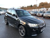 USED 2016 66 BMW X3 3.0 XDRIVE30D M SPORT 5d AUTO 255 BHP Cream leather, Professional Sat Nav & Media, 20 inch alloys ++ Only 12,500 miles