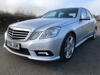 2011 MERCEDES-BENZ E CLASS 3.0 E350 CDI BLUEEFFICIENCY SPORT 4d AUTO 265 BHP £9995.00