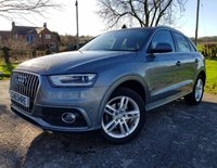 2012 AUDI Q3 2.0 TDI S LINE 5d + FULL LEATHER + SAT NAV + 2 KEYS + EXTRAS £11750.00
