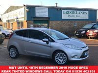 USED 2008 58 FORD FIESTA 1.4 TITANIUM 3d Electric Folding Door Mirrors, Bluetooth, Front & Rear Heated Screen  Mot Until 18th December 2019, Huge Spec, Rear Tinted Windows,Give us a call today on 01536 402161