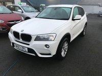 2013 BMW X3 2.0 XDRIVE20D SE 5d AUTO 181 BHP £13499.00