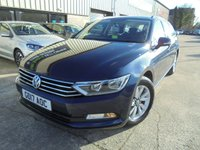 USED 2017 17 VOLKSWAGEN PASSAT 1.6 S TDI BLUEMOTION TECHNOLOGY 5d 119 BHP Excellent Condition, Large Estate, No Deposit Finance Available, Part Exchange Welcomed