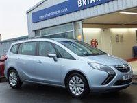 USED 2016 16 VAUXHALL ZAFIRA TOURER 1.4i TURBO DESIGN 5dr 138bhp ....7-SEATS. ONE PRIVATE OWNER. FULL VAUXHALL SERVICE HISTORY.