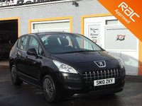 USED 2010 10 PEUGEOT 3008 1.6 ACTIVE HDI 5d 110 BHP AIR CON, 8 SERVICE STAMPS, FREE RAC WARRANTY