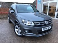 USED 2015 15 VOLKSWAGEN TIGUAN 2.0 R LINE TDI BLUEMOTION TECHNOLOGY 4MOTION 5d 175 BHP ONE LADY OWNER FROM NEW.