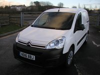 USED 2016 16 CITROEN BERLINGO 1.6 625 ENTERPRISE L1 HDI VAN - NO VAT 3 seater, Air Con, 24000 miles, Manufacturers Warranty