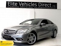 USED 2011 53 MERCEDES-BENZ E CLASS 2.1 E250 CDI BLUEEFFICIENCY SPORT 2d AUTO 204 BHP