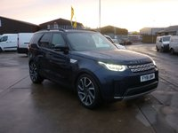 """2018 LAND ROVER DISCOVERY 3.0 COMMERCIAL TD6 HSE AUTO 255 BHP in Lorie blue with  22"""" Wheels  Adaptive Xenon Lights  Black Premium Headlining Electric Deployable Towbar Heated Steering Wheel Black Roof Rails and Ballance of Service Plan  £48395.00"""