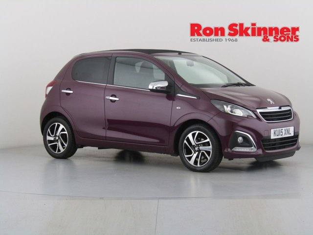 View our 2015 15 PEUGEOT 108 1.2 ALLURE TOP 5d 82 BHP