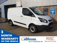 USED 2016 16 FORD TRANSIT CUSTOM 2.2 290 LOW ROOF SWB P/V 1d 99 BHP 1 OWNER, FULL SERVICE HISTORY