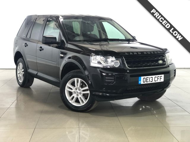 View our 2013 13 LAND ROVER FREELANDER 2.2 TD4 BLACK AND WHITE 5d 150 BHP