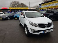 USED 2012 12 KIA SPORTAGE 1.6 1 5 DOOR 133 BHP IN WHITE WITH 58000 MILES IN IMMACULATE CONDITION INSIDE AND OUT. APPROVED CARS ARE PLEASED TO OFFER THIS KIA SPORTAGE 1.6 1 5 DOOR 133 BHP IN WHITE WITH 58000 MILES IN IMMACULATE CONDITION INSIDE AND OUT WITH A GREAT SPEC INCLUDING ALLOYS,6 SPEED GEARBOX,SOLID WHITE PAINTWORK AND MUCH MORE WITH A FULL SERVICE HISTORY AND ONLY 2 OWNERS AND FIRST OF THE NEW SHAPE AT A VERY SENSIBLE PRICE.