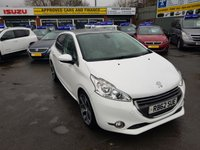 2012 PEUGEOT 208 1.6 FELINE E-HDI 5 DOOR 115 BHP IN WHITE WITH ONLY 49000 MILES IN IMMACULATE CONDITION. £5999.00