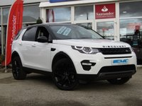 USED 2017 67 LAND ROVER DISCOVERY SPORT 2.0 TD4 HSE BLACK 5d AUTO 180 BHP STUNNING, SPECIAL EDITION, PANORAMIC ROOF, LAND ROVER DISCOVERY SPORT BLACK EDITION 2.0 TD4 HSE 180 BHP. Finished in FUJI WHITE with contrasting Black HEATED LEATHER SEATS. This Discovery Sport is practical, incredible off road and a comfy SUV that has 7 Seats that will swallow your family and luggage. FEATURES include Panoramic Glass Roof, Electric Rear Boot, Heated Leather, Sat Nav, Reversing Camera, Park sensors and much more. Dealer serviced and still under Land Rover Warranty.